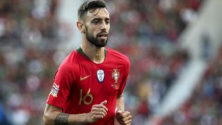 Bruno Fernandes of Portugal and Sporting CP during the UEFA Nations League Final football match Portugal vs Netherlands at Dragao stadium in Porto on June 9, 2019.  (Filipe Amorim / NurPhoto)  (Photo by Filipe Amorim/NurPhoto)