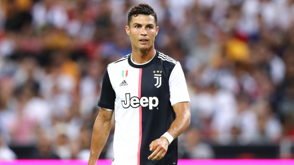 SINGAPORE, SINGAPORE - JULY 21: Cristiano Ronaldo of Juventus in action during the International Champions Cup match between Juventus and Tottenham Hotspur at the Singapore National Stadium on July 21, 2019 in Singapore. (Photo by Pakawich Damrongkiattisak/Getty Images)
