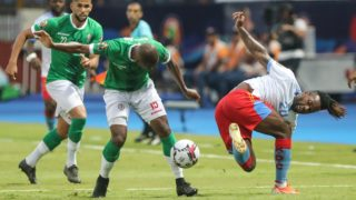 07 July 2019, Egypt, Alexandria: Madagascar's Ibrahim Amada vies for the ball with DR Congo's Jacques Maghoma during the 2019 Africa Cup of Nations round of 16 soccer match between Madagascar and DRCongo at the Alexandria Stadium. Photo: Omar Zoheiry/dpa