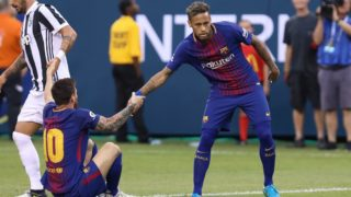 Neymar  and Messi Barcelona's goal against Juventus during the 2017 International Champions Cup at MetLife Stadium in East Rutherford, New Jersey. (PHOTO: VANESSA CARVALHO / BRAZIL PHOTO PRESS)