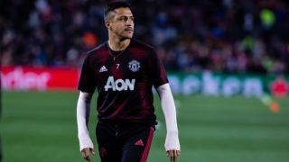07 Alexis Sanchez of Manchester United during the UEFA Champions League second leg match of Quarter final between FC Barcelona and Manchester United in Camp Nou Stadium in Barcelona 16 of April of 2019, Spain. (Photo by Xavier Bonilla/NurPhoto)