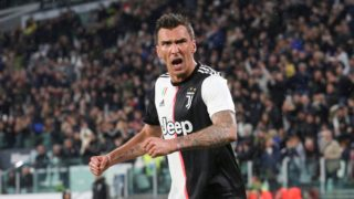 Mario Mandzukic (Juventus FC) celebrates after scoring during the Serie A football match between Juventus FC and Atalanta BC at Allianz Stadium on May 19, 2019 in Turin, Italy.