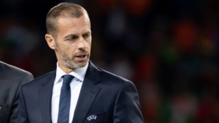 PORTO, PORTUGAL - JUNE 09: UEFA President Aleksander Ceferin looks on prior to the UEFA Nations League Final between Portugal and the Netherlands at Estadio do Dragao on June 9, 2019 in Porto, Portugal. (Photo by TF-Images/Getty Images)
