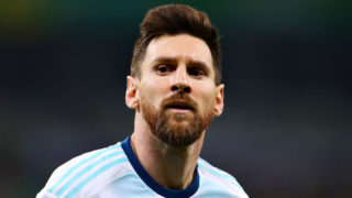 BELO HORIZONTE, BRAZIL - JULY 02: Lionel Messi of Argentina looks on during the Copa America Brazil 2019 Semi Final match between Brazil and Argentina at Mineirao Stadium on July 02, 2019 in Belo Horizonte, Brazil. (Photo by Chris Brunskill/Fantasista/Getty Images)