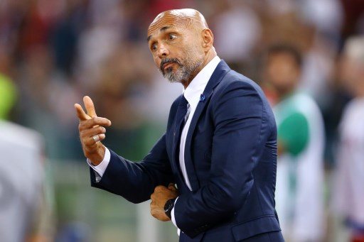Luciano Spalletti of Internazionale  during the Serie A match between AS Roma and FC Internazionale on August 26, 2017 in Rome, Italy. (Photo by Matteo Ciambelli/NurPhoto)