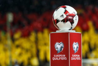 KAISERSLAUTERN, GERMANY - OCTOBER 08: Match-Ball are seen during the FIFA 2018 World Cup Qualifier between Germany and Azerbaijan at Fritz-Walter Stadium on October 8, 2017 in Kaiserslautern, Germany. (Photo by TF-Images/TF-Images via Getty Images)