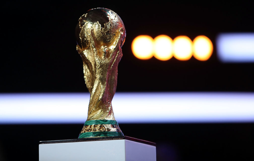 MOSCOW, RUSSIA - NOVEMBER 29: A general view of trophy during the Behind the Scenes of the Final Draw for the 2018 FIFA World Cup at the Draw hall on November 29, 2017 in Moscow, Russia. (Photo by Amin Mohammad Jamali/Getty Images)