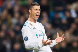 MADRID, SPAIN - DECEMBER 06: Cristiano Ronaldo of Real Madrid gestures during the Europe Champions League 2017-18 match between Real Madrid and Borussia Dortmund at Santiago Bernabeu Stadium on 06 December 2017 in Madrid Spain. Photo by Diego Gonzalez / Power Sport Images