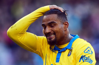 Kevin-Prince Boateng (UD Las Palmas), during La Liga soccer match between FC Barcelona and UD Las Palmas, at the Camp Nou stadium in Barcelona, Spain, saturday, january 14, 2017. Foto: S.Lau | Verwendung weltweit