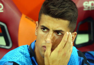 Joao Cancelo of Internazionale  during the Serie A match between AS Roma and FC Internazionale on August 26, 2017 in Rome, Italy. (Photo by Matteo Ciambelli/NurPhoto)