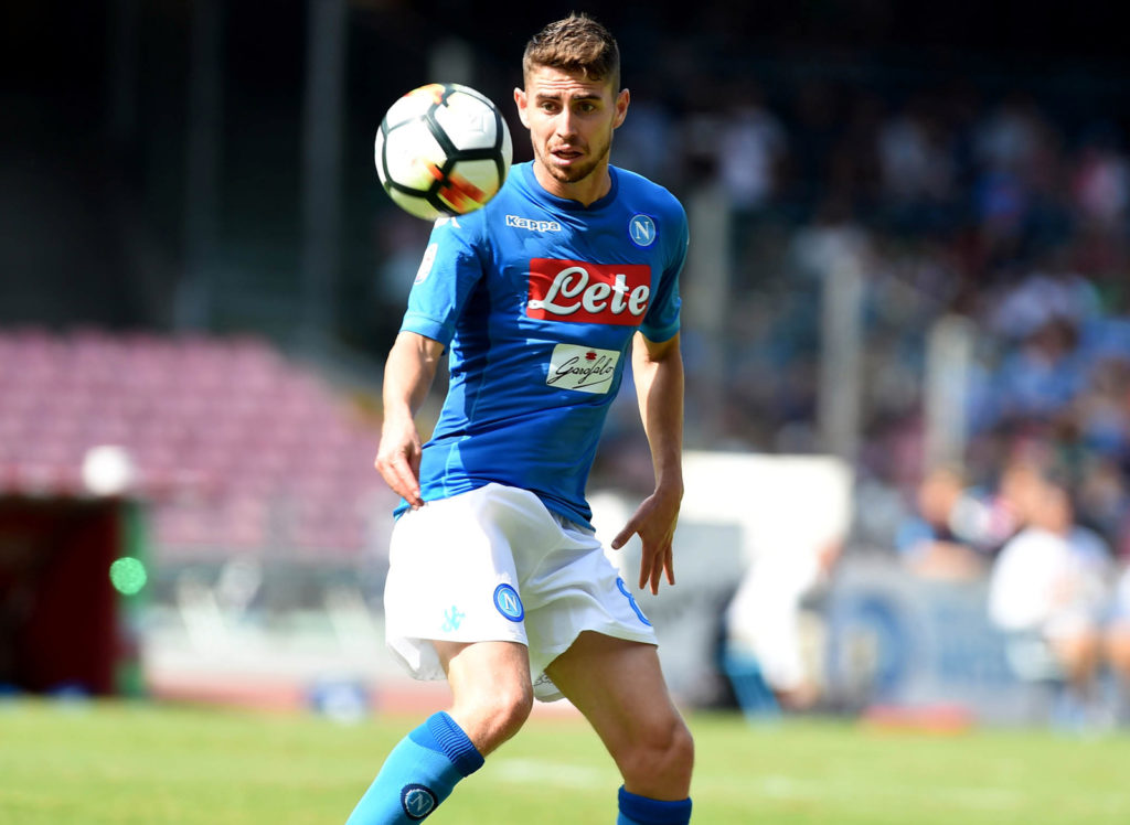 Jorginho of SSC Napoli during the Serie A TIM match between SSC Napoli and Cagliari Calcio at Stadio San Paolo Naples Italy on 1 October 2017. (Photo Franco Romano)