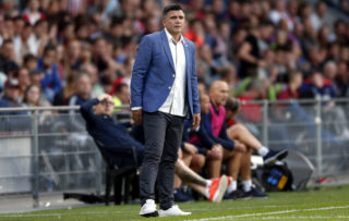 coach Zoran Zekic of NK Osijek during the UEFA Europa League third qualifying round first leg match between PSV Eindhoven and Osijek at Philips  Stadium, on July 27, 2017 in Eindhoven, The Netherlands(Photo by VI Images via Getty Images)