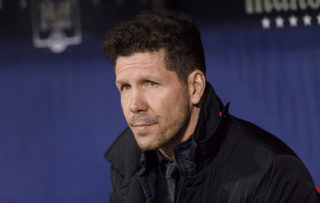 MADRID, SPAIN - DECEMBER 16: Head Coach Diego Simeone of Atletico de Madrid during the La Liga 2017-18 match between Atletico de Madrid and Deportivo Alaves at Wanda Metropolitano Stadium on 16 December 2017 in Madrid, Spain. (Photo by Power Sport Images/Getty Images)
