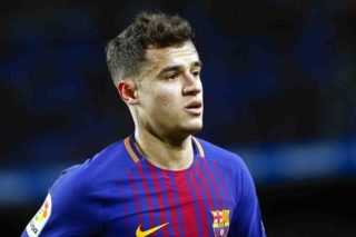 Barcelona midfielder Philippe Coutinho (14) during the match between FC Barcelona vs Valencia, of the Spanish King's Cup Semi Final, played at Camp Nou Stadium on 1th  February 2018 in Barcelona. (Photo by Urbanandsport/NurPhoto)