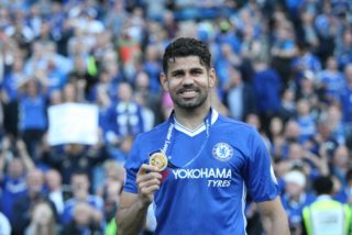 Chelsea forward Diego Costa (19) during the Premier League match between Chelsea and Sunderland at Stamford Bridge, London, England on 21 May 2017 - Photo by John Potts / ProSportsImages / DPPI