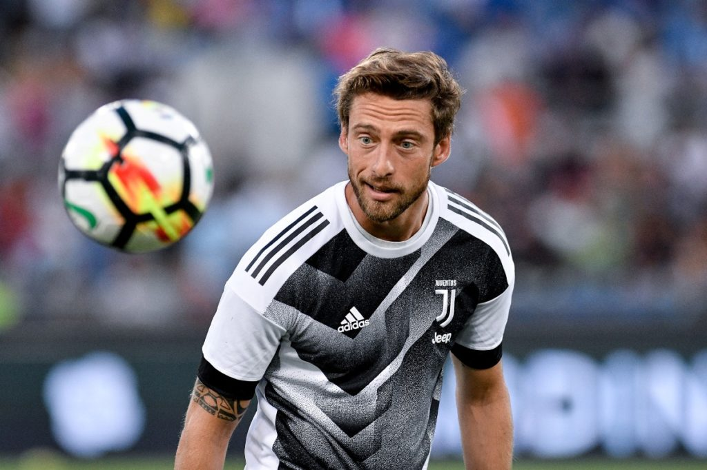 Claudio Marchisio of Juventus during the Italian Supercup Final match between Juventus and Lazio at Stadio Olimpico, Rome, Italy on 13 August 2017. (Photo by Giuseppe Maffia/NurPhoto)