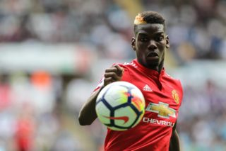 Paul Pogba of Manchester United during the Premier League match between Swansea City and Manchester United at the Liberty Stadium, Swansea, Wales, England, on 19 August 2017 - Photo by Andrew Lewis / ProSportsImages / DPPI
