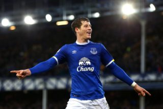 Ross Barkley of Everton celebrates scoring his sides sixth goal during the English championship Premier League football match between Everton and AFC Bournemouth on February 4, 2017 played at Goodison Park in Liverpool, Great Britain - Photo Paul Greenwood / Backpage Images / DPPI