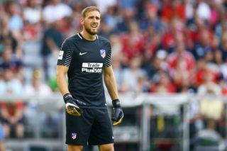 Jan Oblak of Atletico de Madrid during the first Audi Cup football match between Atletico Madrid and SSC Napoli in the stadium in Munich, southern Germany, on August 1, 2017. (Photo by Matteo Ciambelli/NurPhoto)