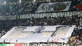 The Juventus fans before the Serie A football match between Juventus FC and Torino FC at Allianz Stadium on 23 September, 2017 in Turin, Italy.  Juventus FC won 4-0 over Torino FC.    (Photo by Massimiliano Ferraro/NurPhoto)