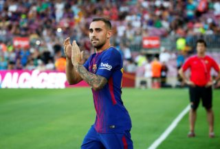 Paco Alcacer during the presentation of the team 2017-18, in Barcelona, on August 07, 2017. Photo: JoanValls/Urbanandsport/Nurphoto -- (Photo by Urbanandsport/NurPhoto)