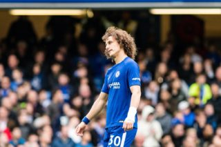 Chelsea (30) David Luiz after 2nd goal for Watford during the English championship Premier League football match between Chelsea and Watford on October 21, 2017 at Stamford Bridge in London, England - Photo Sebastian Frej / ProSportsImages / DPPI