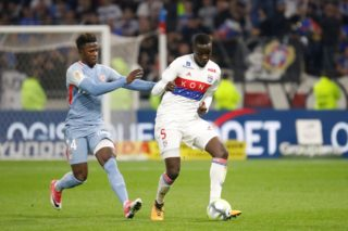 Mouctar Diakhaby to OL and Keita Balde to AS Monaco during the French Championship Ligue 1 football match between Olympique Lyonnais and AS Monaco on October 13, 2017 at Groupama stadium in Décines, near Lyon, France - Photo Romain Biard / Isports / DPPI