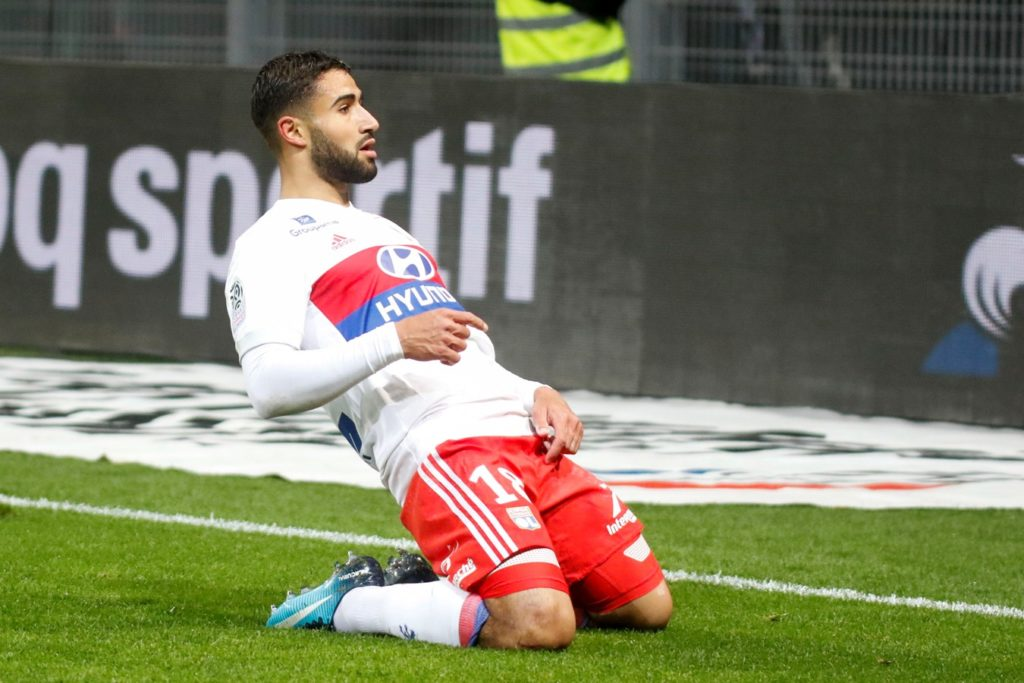 Joy Nabil Fekir to OL during the French championship L1 football match between Saint-Etienne and Olympique Lyonnais on November 5, 2017 at Geoffroy-Guichard stadium in Saint-Etienne, France - Photo Romain Biard / Isports / DPPI