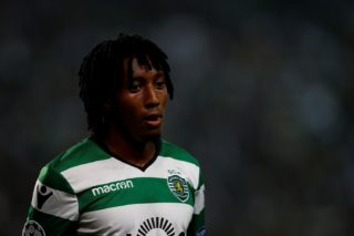 Sporting's forward Gelson Martins  during Champions League 2017/18 match between Sporting CP vs Juventus FC, in Lisbon, on October 31, 2017.  (Photo by Carlos Palma/NurPhoto)