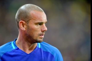 Wesley Sneijder (Ned) during the International Friendly match between Romania and Netherlands at National Arena Stadium in Bucharest, Romania, on 14 november 2017.   (Photo by Alex Nicodim/NurPhoto)
