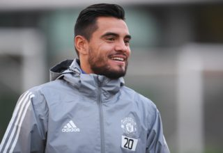 3249854 12/04/2017 Goalie Sergio Romero during a training session ahead of the 2017/18 UEFA Champions League group stage match against CSKA (Moscow, Russia). Alexey Filippov/Sputnik