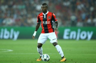 Jean Michael Seri of Nice  during the UEFA Champions League Qualifying Play-Offs round, second leg match, between OGC Nice and SSC Napoli at Allianz Riviera Stadium on August 22, 2017 in Nice, France. (Photo by Matteo Ciambelli/NurPhoto)