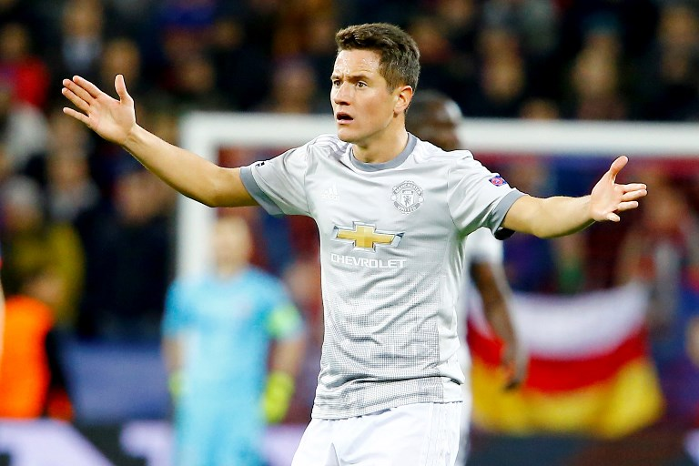 MOSCOW RUSSIA SEPTEMBER 27: Ander Herrera of Manchester United is seen during the UEFA Champions League match between CSKA Moscow and Manchester United at VEB Arena in Moscow, on September 27, 2017. 