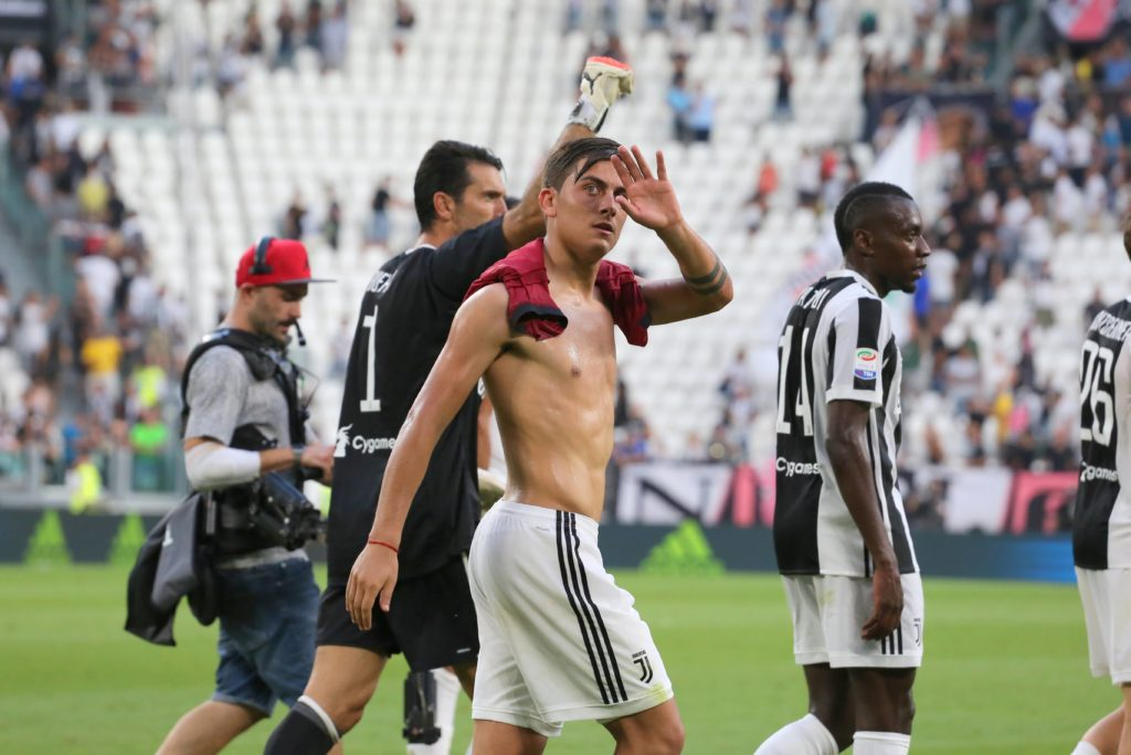 Paulo Dybala (Juventus FC) celebrates the victory after the Serie A football match between Juventus FC and Cagliari Calcio at Allianz Stadium on august 19, 2017 in Turin, Italy. (Photo by Massimiliano Ferraro/NurPhoto)