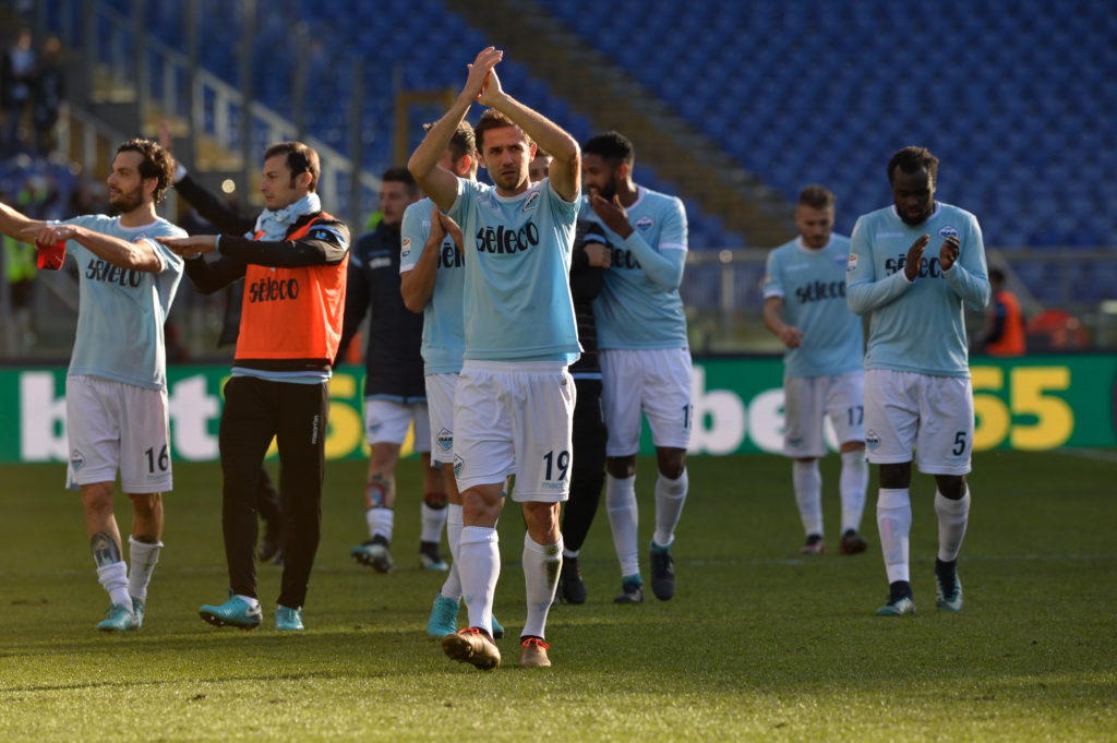 Senad Lulic during the Italian Serie A football match between S.S. Lazio and Crotone at the Olympic Stadium in Rome, on december 23, 2017. (Photo by Silvia Lore/NurPhoto)