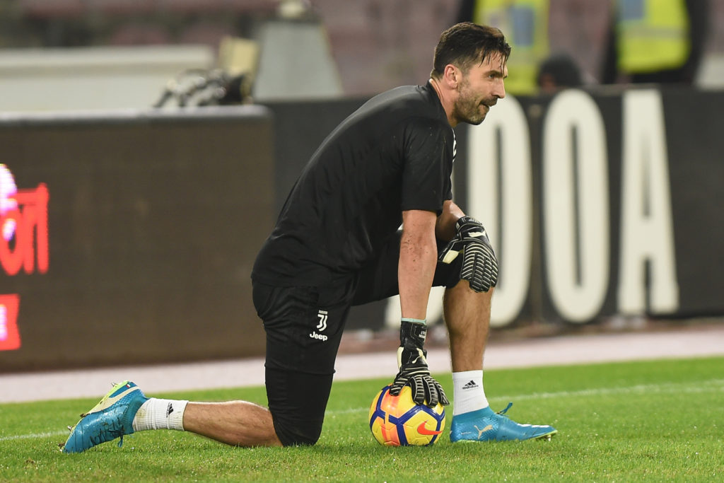 Gianluigi Buffon of Juventus during the Serie A TIM match between SSC Napoli and Juventus FC at Stadio San Paolo Naples Italy on 1 December 2017. (Photo Franco Romano/Nurphoto)