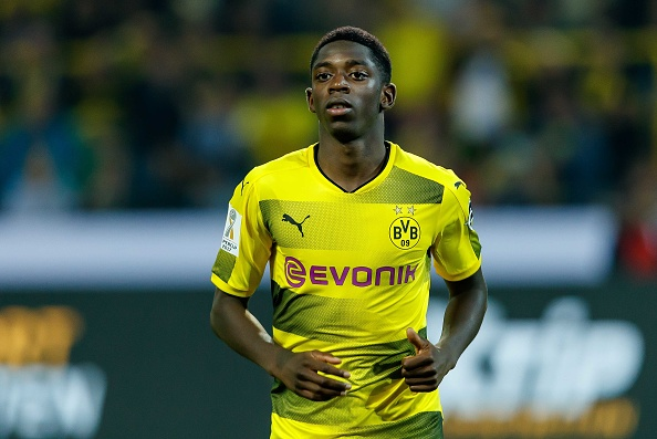 DORTMUND, GERMANY - AUGUST 05: Ousmane Dembele of Dortmund looks on during the DFL Supercup 2017 match between Borussia Dortmund and Bayern Muenchen at Signal Iduna Park on August 5, 2017 in Dortmund, Germany. (Photo by TF-Images/TF-Images via Getty Images)