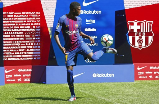 Presentation of Ousmane Dembele as new player of the FC Barcelona, in Barcelona, on August 28, 2017. (Photo by Urbanandsport/NurPhoto)
