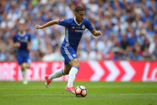 LONDON, ENGLAND - MAY 27: Eden Hazard of Chelsea during the Emirates FA Cup Final match between Arsenal and Chelsea at Wembley Stadium on May 27, 2017 in London, England. (Photo by Catherine Ivill - AMA/Getty Images)