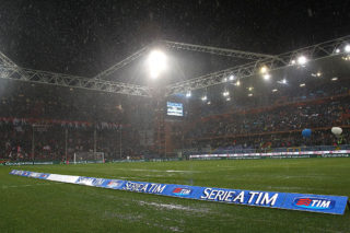 GENOA, ITALY - FEBRUARY 21:  A general view of Stadio Luigi Ferraris before the Serie A match between UC Sampdoria and Genoa CFC suspended because of heavy rainfall on February 21, 2015 in Genoa, Italy.  (Photo by Marco Luzzani/Getty Images)