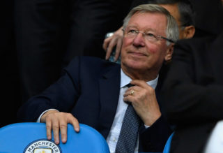 MANCHESTER, ENGLAND - AUGUST 21: Sir Alex Ferguson during the Premier League match between Manchester City and Everton at Etihad Stadium on August 21, 2017 in Manchester, England.  (Photo by Stu Forster/Getty Images)
