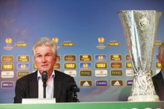 MOENCHENGLADBACH, GERMANY - SEPTEMBER 16:  Jupp Heynckes attends the UEFA Europa League Trophy Tour Press Conference at Borussia-Park on September 16, 2014 in Moenchengladbach, Germany.  (Photo by Mathis Wienand/Getty Images)