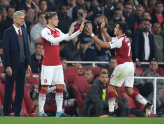 during the Premier League match between Arsenal and West Bromwich Albion at Emirates Stadium on September 25, 2017 in London, England.