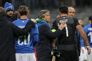 during the FIFA 2018 World Cup Qualifier Play-Off: Second Leg between Italy and Sweden at San Siro Stadium on November 13, 2017 in Milan, .