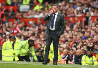MANCHESTER, ENGLAND - MAY 21: Sam Allardyce, Manager of Crystal Palace looks on during the Premier League match between Manchester United and Crystal Palace at Old Trafford on May 21, 2017 in Manchester, England.  (Photo by Dave Thompson/Getty Images)