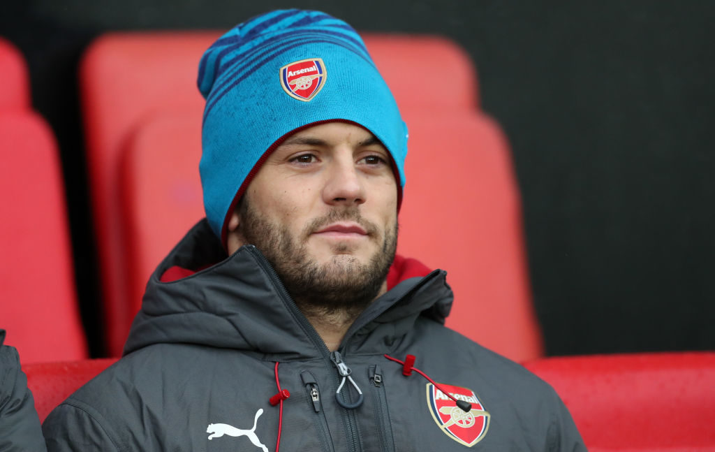 SOUTHAMPTON, ENGLAND - DECEMBER 10: Jack Wilshere of Arsenal during the Premier League match between Southampton and Arsenal at St Mary's Stadium on December 10, 2017 in Southampton, England. (Photo by Catherine Ivill/Getty Images)