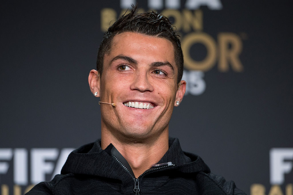 ZURICH, SWITZERLAND - JANUARY 11: FIFA Ballon d'Or nominee Cristiano Ronaldo of Portugal and Real Madrid attends a press conference prior to the FIFA Ballon d'Or Gala 2015 at the Kongresshaus on January 11, 2016 in Zurich, Switzerland. (Photo by Philipp Schmidli/Getty Images)