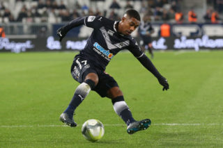 BORDEAUX, FRANCE - DECEMBER 21:  Malcom of Bordeaux in action during the Ligue 1 match between FC Girondins de Bordeaux and Montpellier Herault SC at Stade Matmut Atlantique on December 21, 2017 in Bordeaux, .  (Photo by Romain Perrocheau/Getty Images)