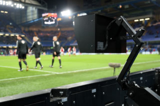 during the Carabao Cup Semi-Final first leg match between Chelsea and Arsenal at Stamford Bridge on January 10, 2018 in London, England.