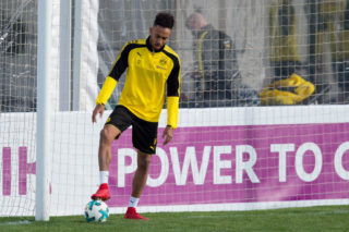 MARBELLA, SPAIN - JANUARY 07: Auba, Pierre-Emerick Aubameyang of Dortmund controls the ball during the Borussia Dortmund training camp at Marbella Football Center on January 07, 2018 in Marbella, Spain. (Photo by TF-Images/TF-Images via Getty Images)